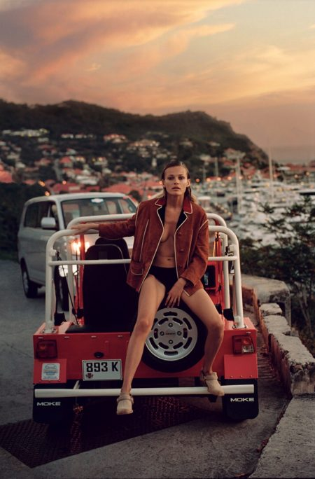 Edita Vilkeviciute Models Vacation-Ready Fashions for WSJ