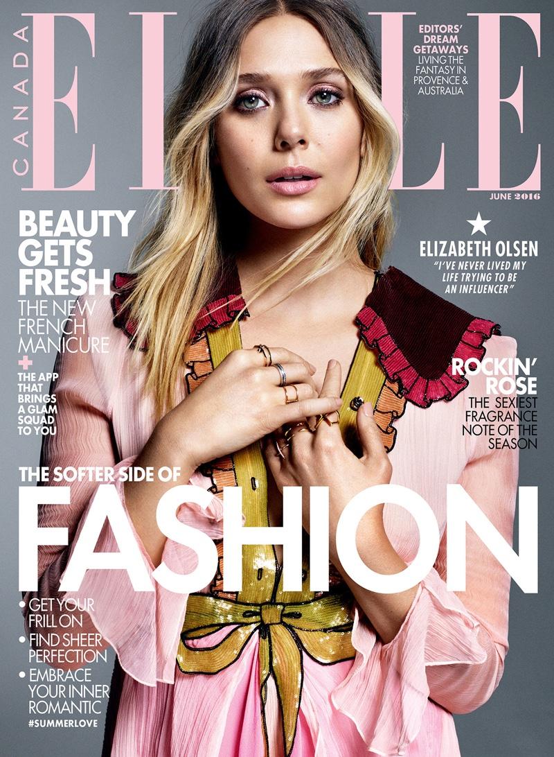 Elizabeth Olsen on ELLE Canada June 2016 Cover