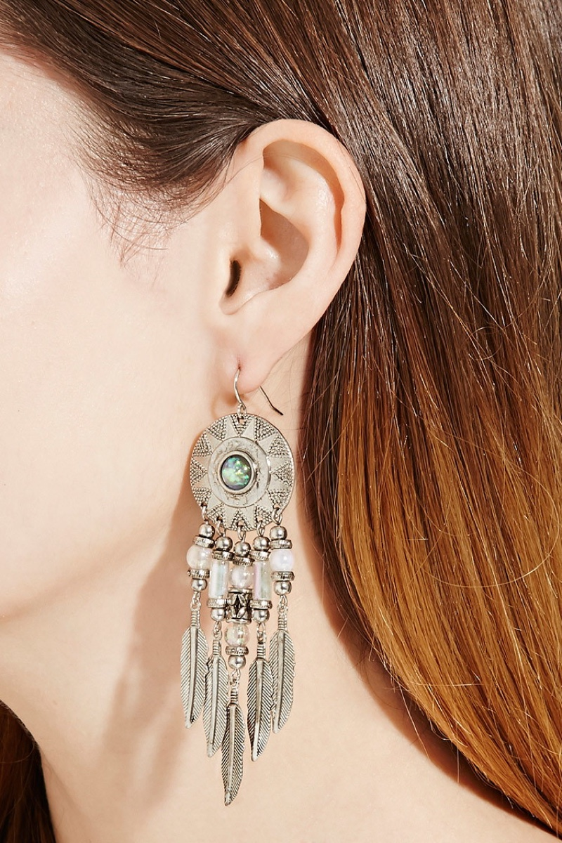 Forever 21 Feather Drop Earrings $5.90