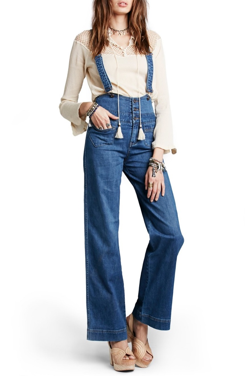 Free People Penrose Flare Overalls
