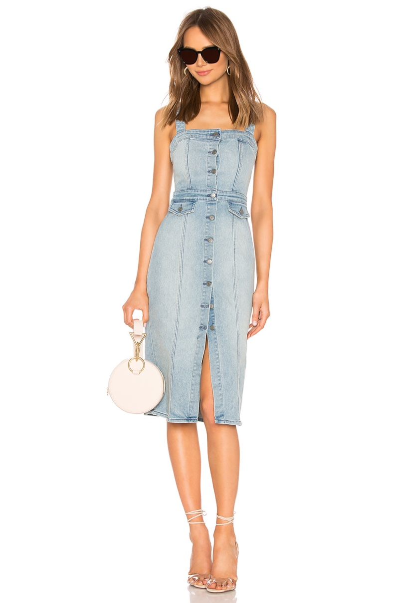 GRLFRND Petra Slim Midi Dress $298