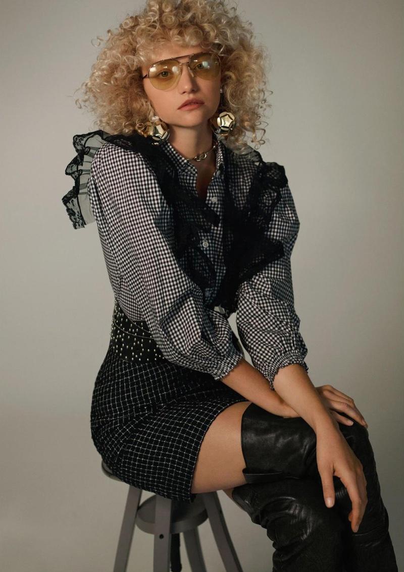 gemma ward gives some curly hair inspiration in marfa