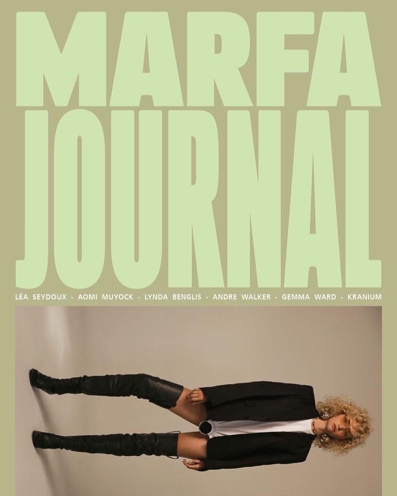 Gemma Ward on Marfa Journal #5 Cover