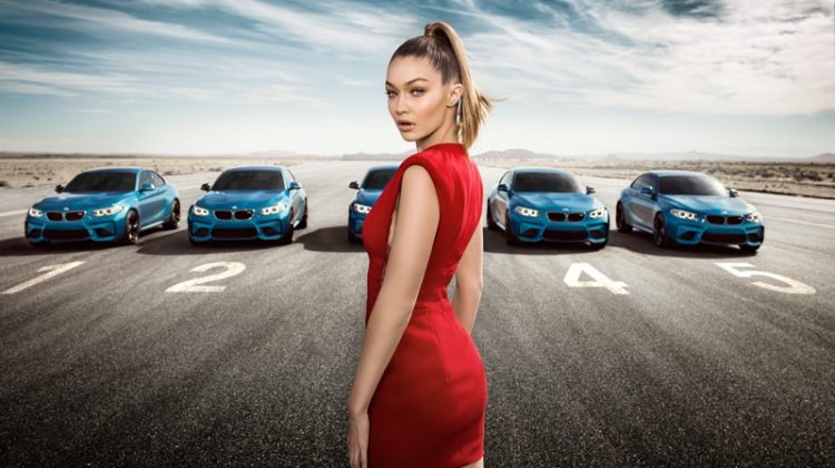 BMW Taps Gigi Hadid for Red-Hot Car Commercial