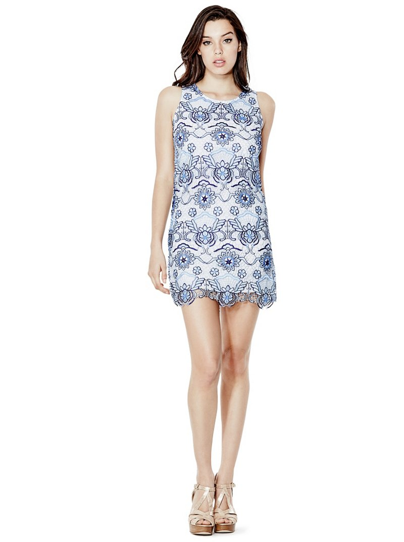 Guess Selah Crochet Lace Shift Dress