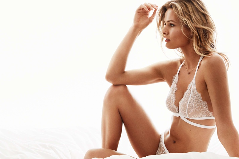 H&M Soft-Cup Halterneck Lace Bra and Lace Thong