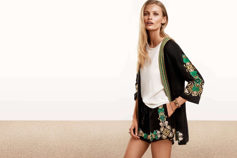 H&M Embroidered Jacket, Short-Sleeve Blouse and Embroidered Shorts
