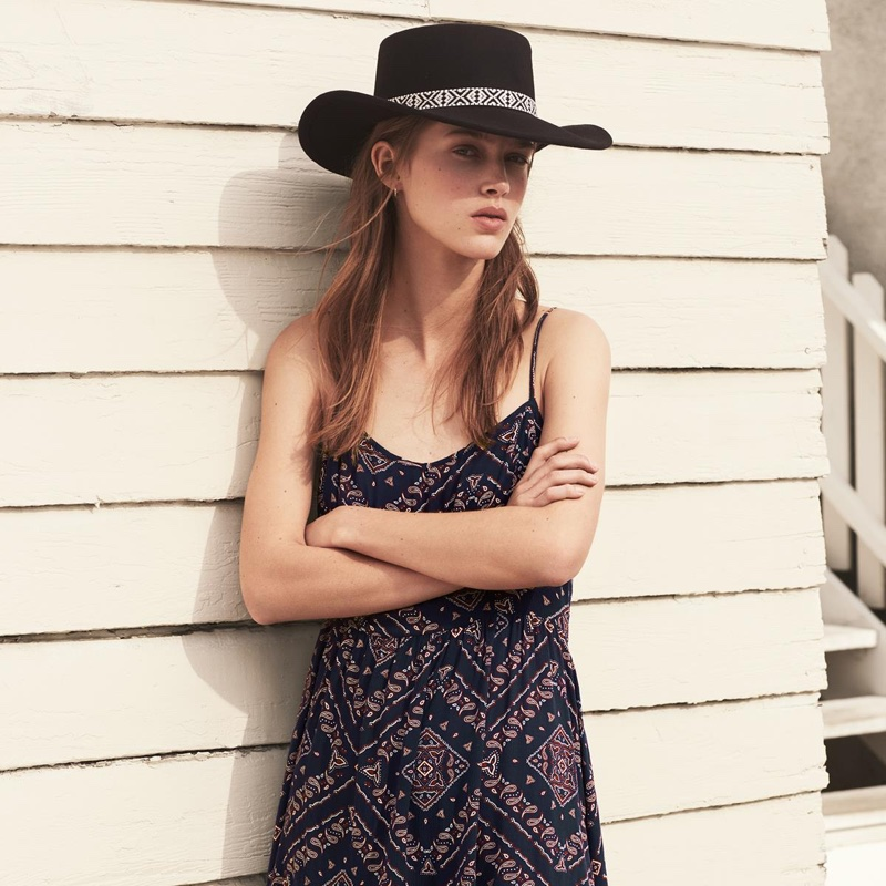 H&M Felted Hat and Crepe Dress