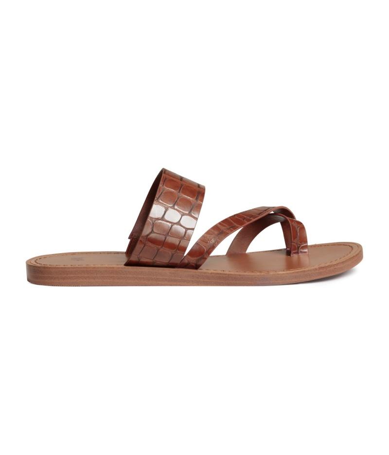 H&M Faux Crocodile Sandals