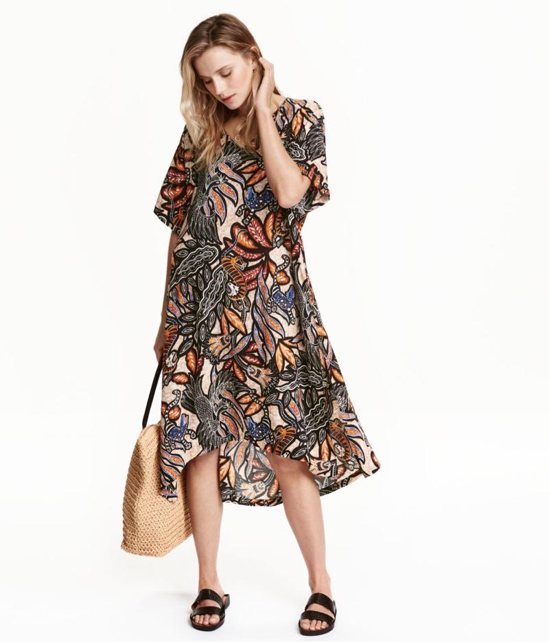 H&M Patterned Viscose Dress