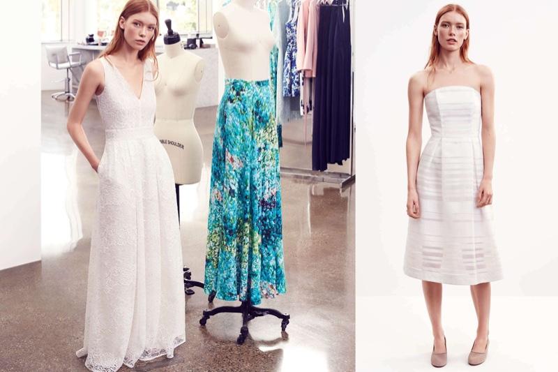 (Left) H&M Lace Maxi Dress (Right) H&M Strapless Dress