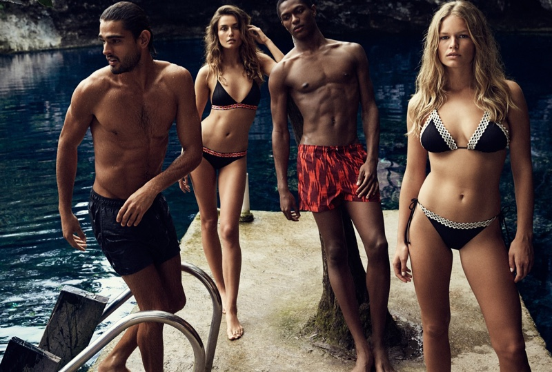 H&M features swimsuits in its summer 2016 campaign