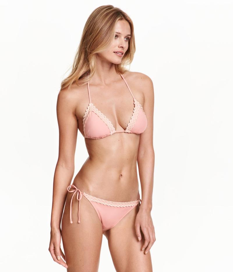 H&M Triangle Bikini Top in Pink