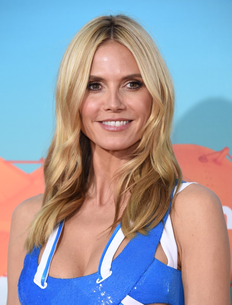 MARCH 2016: Attending the 2016 Kids' Choice Awards, Heidi Klum wears her hair in polished waves. Photo: DFree / Shutterstock.com