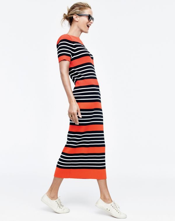 J. Crew Collection Striped Sweater Dress