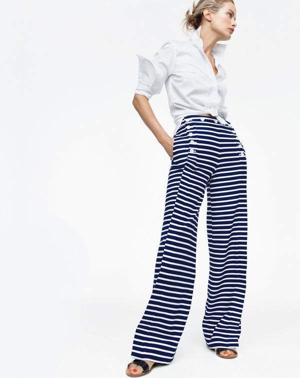 Thomas Mason for J. Crew Boy Shirt, Sailor Pant in Stripe and Malta Sandals