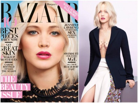 "Jennifer Lawrence Stars in Harper's Bazaar, Talks Having a ""Normal Body"""