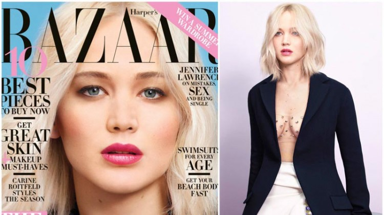"Jennifer Lawrence Stars in Harper's Bazaar, Talks Having a ""Normal Body"""