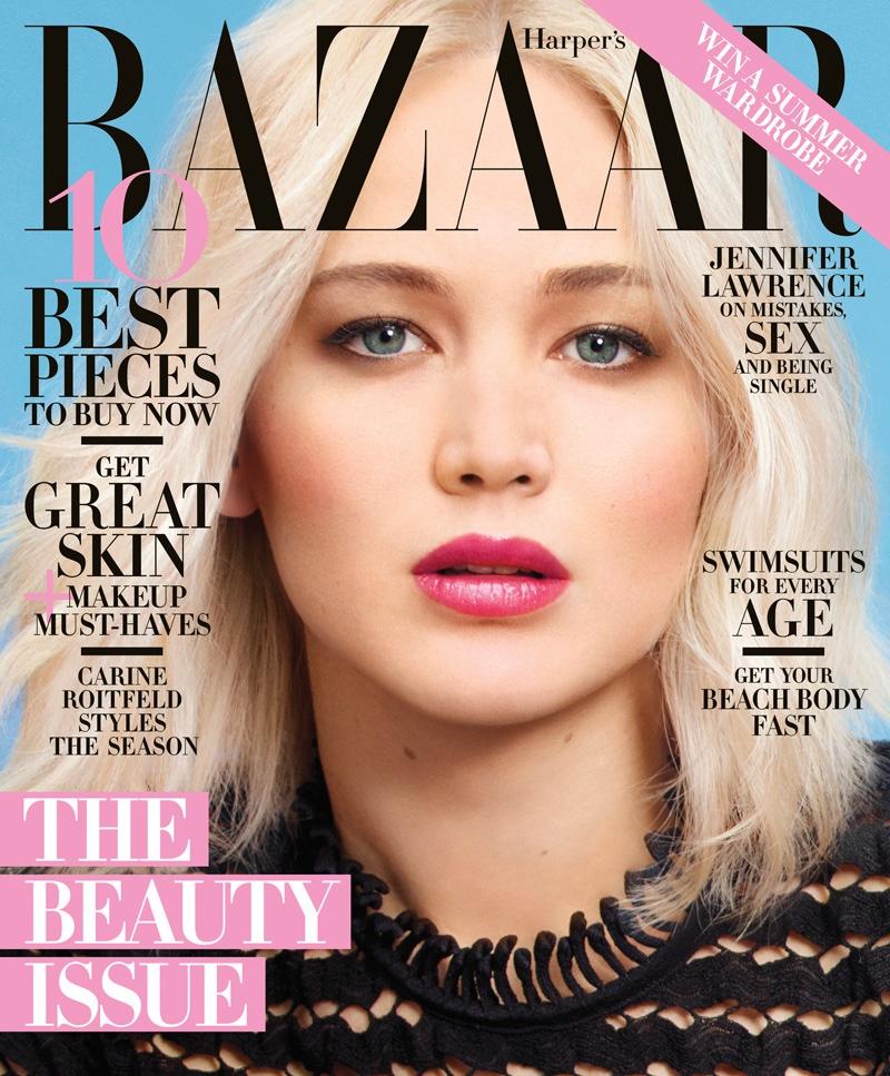 Jennifer Lawrence on Harper's Bazaar May 2016 Cover