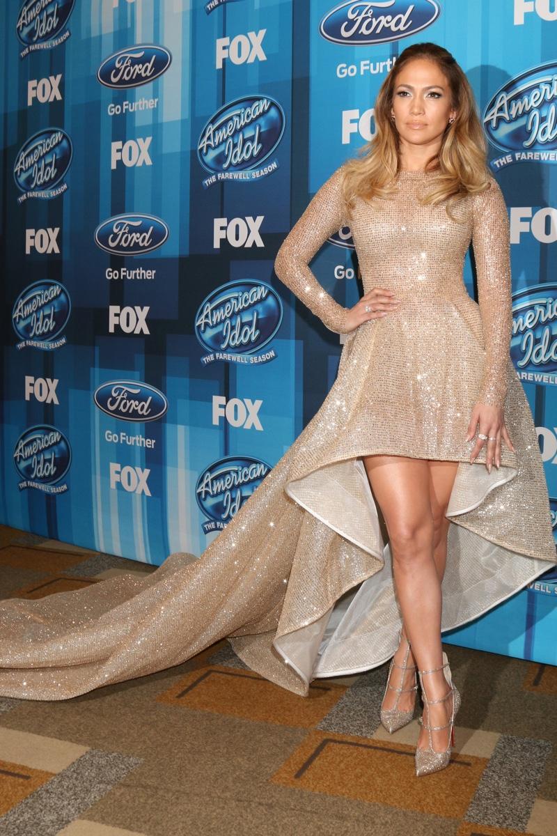 Jennifer Lopez 2016 American Idol Finale Elie Madi Sequin
