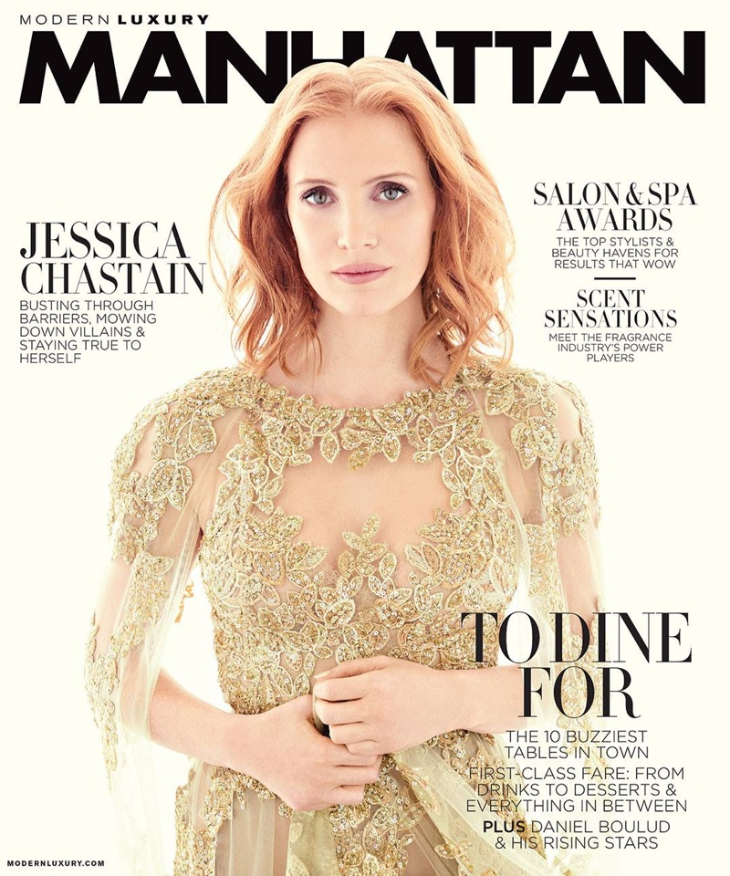 Jessica Chastain on Modern Luxury May 2016 Cover