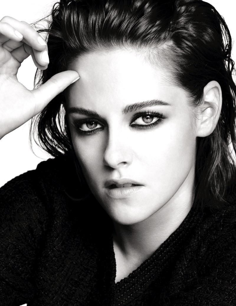 Photographed by Mario Testino, Kristen Stewart models Chanel Makeup