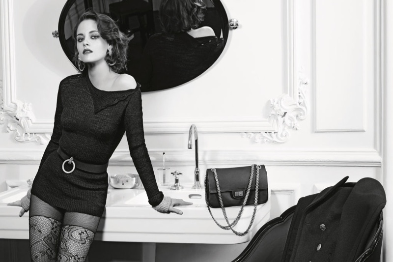 Photographed by Karl Lagerfeld, Kristen Stewart flaunts her body in a form-fitting look