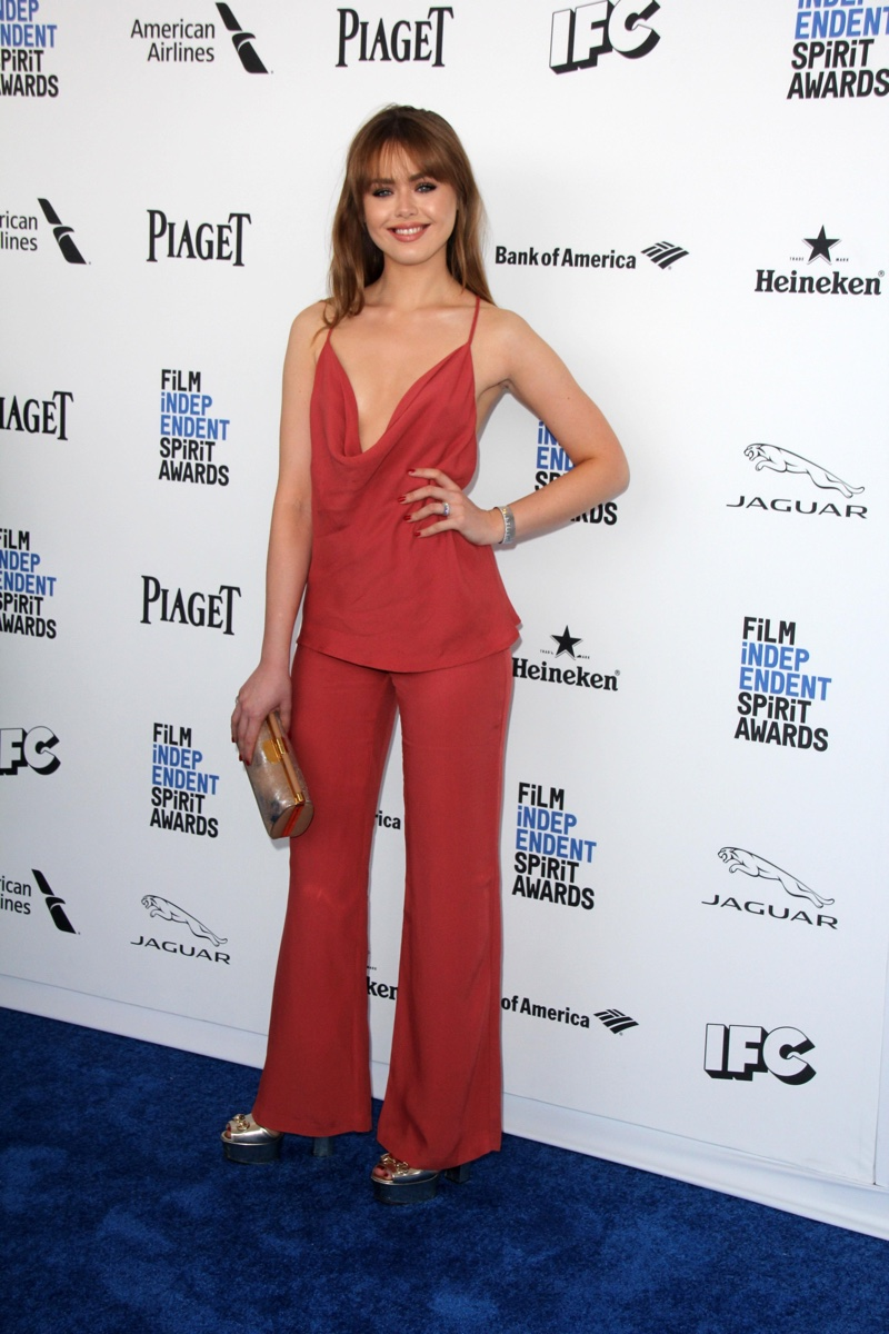 FEBRUARY 2016: Kristina Bazan attends the 2016 Film Independent Spirit Awards wearing a camisole top and pants. Photo: Helga Esteb / Shutterstock.com