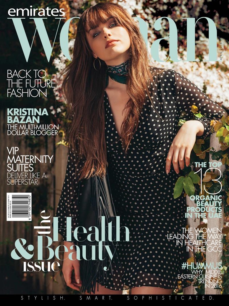 Kristina Bazan on Emirates Woman April 2016 Cover