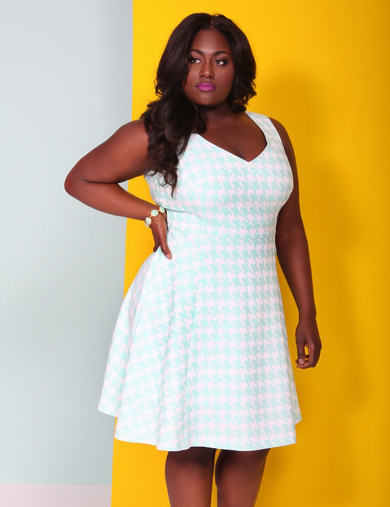 Lane Bryant x Christian Siriano Houndstooth Jacquard Dress