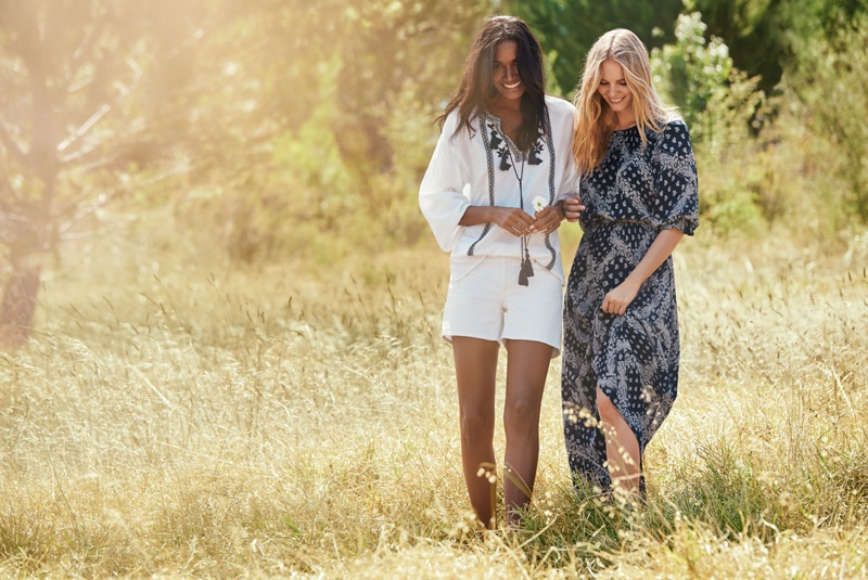 The Lindex woman goes bohemian chic in tunics and maxi dresses
