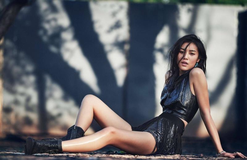 Liu Wen stars in ELLE France's March issue