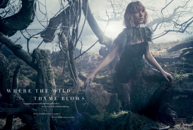 Lou Schoof stars in Harper's Bazaar UK's May issue