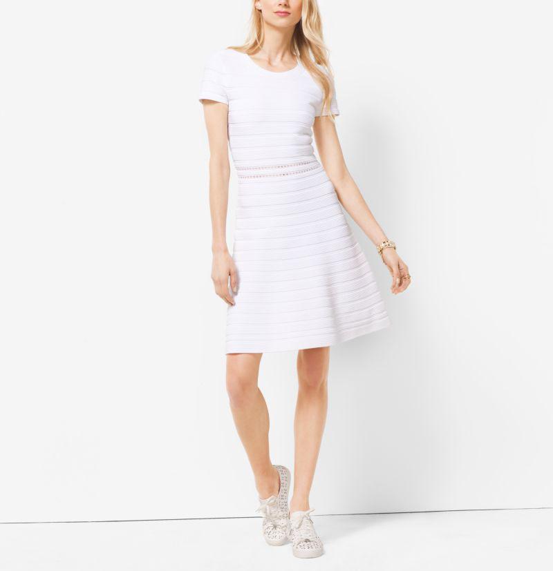 MICHAEL Michael Kors Rib Knit Crewneck Dress