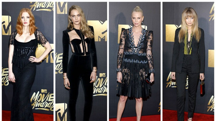 The Stars Stepped Out in Black at the 2016 MTV Movie Awards