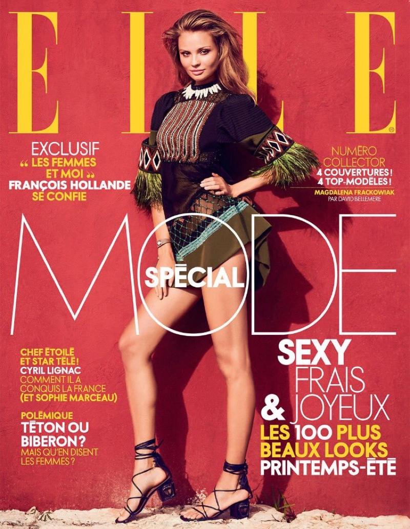 Magdalena Frackowiak on ELLE France March 4, 2016, Cover