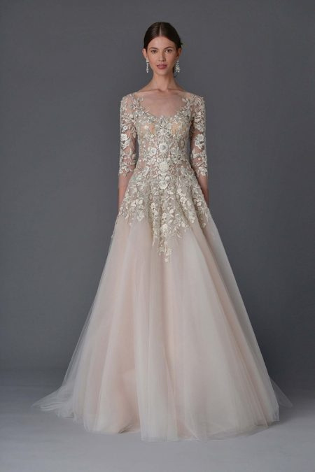 Marchesa Bridal Does Diaphanous Gowns for Spring 2017