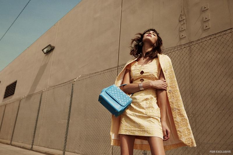 Dress Olena Dats,  Jacket Olena Dats,  Shoes Diego Sanz, Bag Ceecode, Bracelet Jennifer Fisher