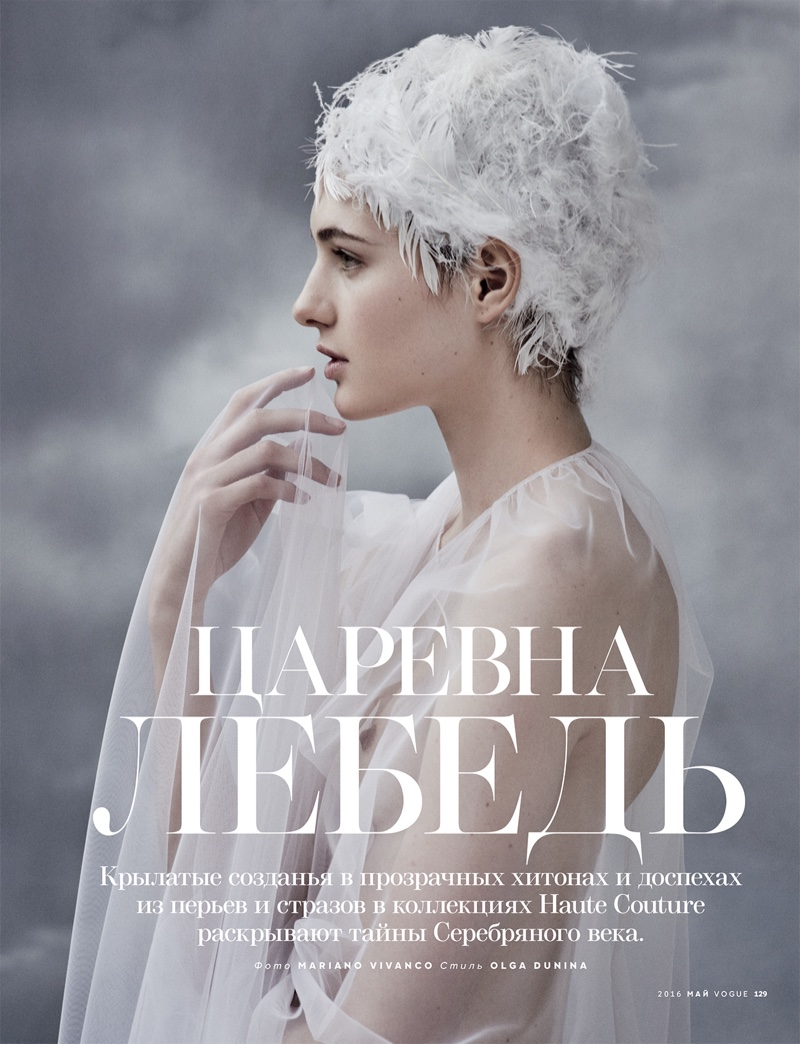 Mariano Vivanco photographs angelic models for Vogue Russia's May issue