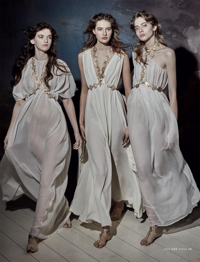 Mariano Vivanco Captures Heavenly Haute Couture for Vogue Russia