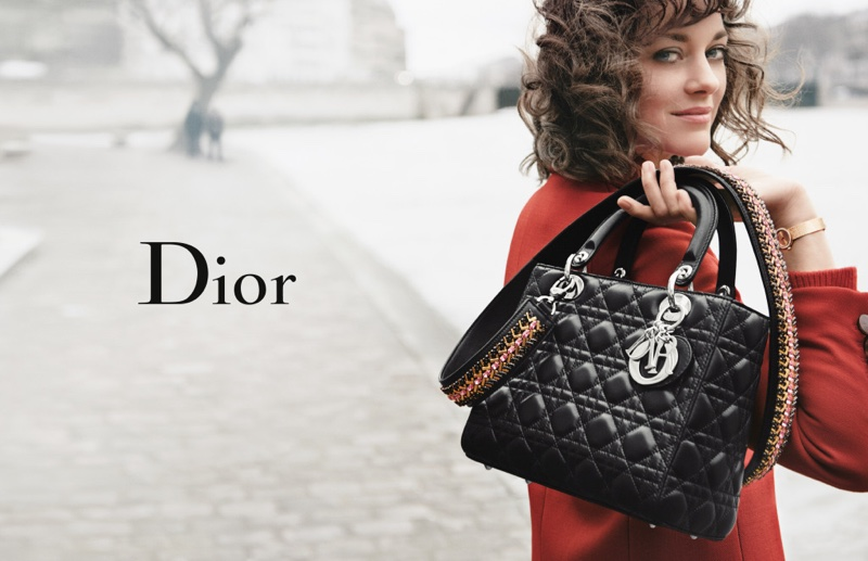 Marion Cotillard poses in Paris for Lady Dior's 2016 campaign