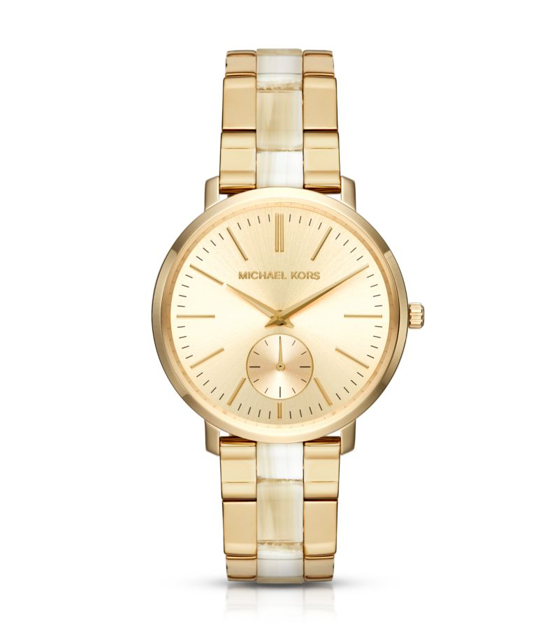 Michael Kors Jaryn Gold Tone & Acetate Watch