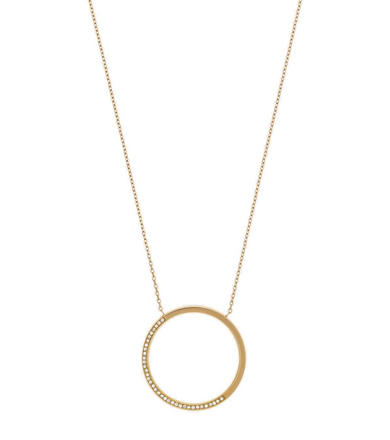 Michael Kors Pave Gold Tone Pendant Necklace