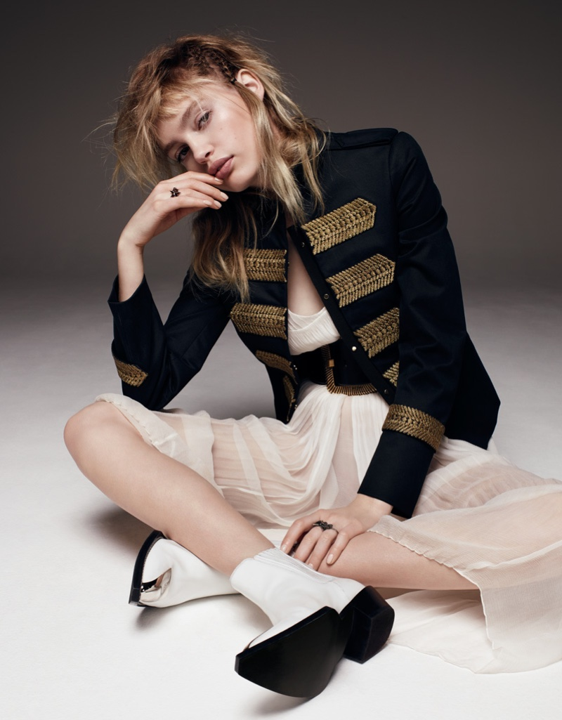 Staz Lindes stars in Vogue Russia's May issue