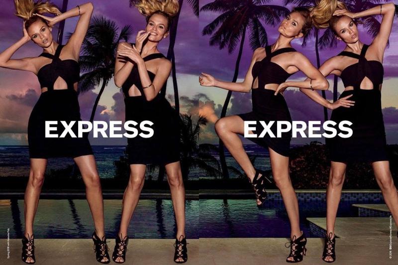 Natasha Poly stars in Express' spring 2016 campaign