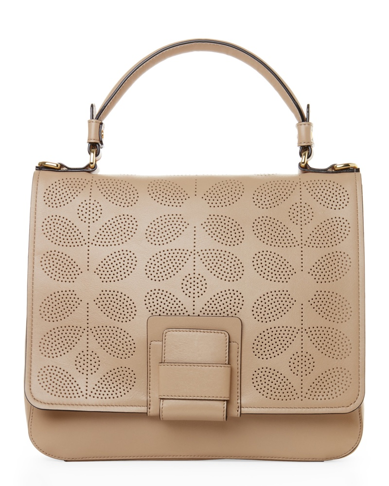Orla Kiely Fawn Sixties Stem Punched Ivy Bag