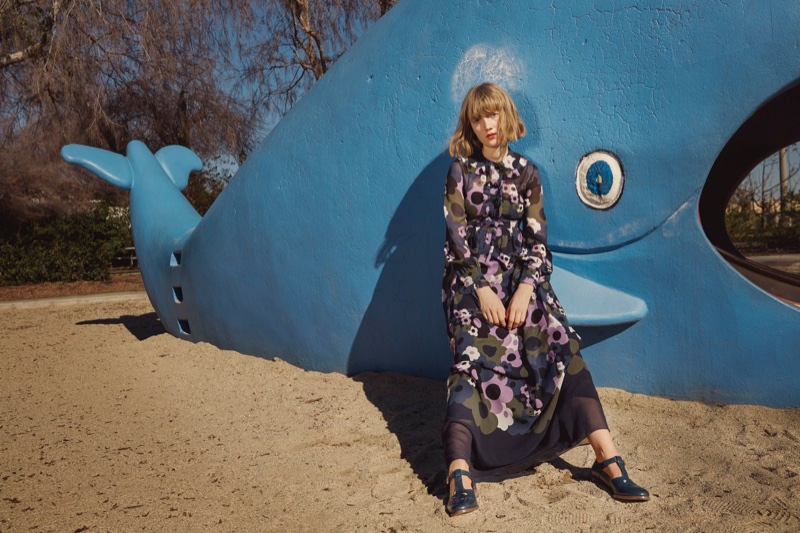 Lou Schoof stars in Orla Kiely's spring-summer 2016 campaign