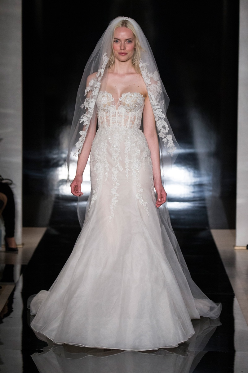 Reem acra bridal 2017 spring wedding dresses for Reem acra lace wedding dress