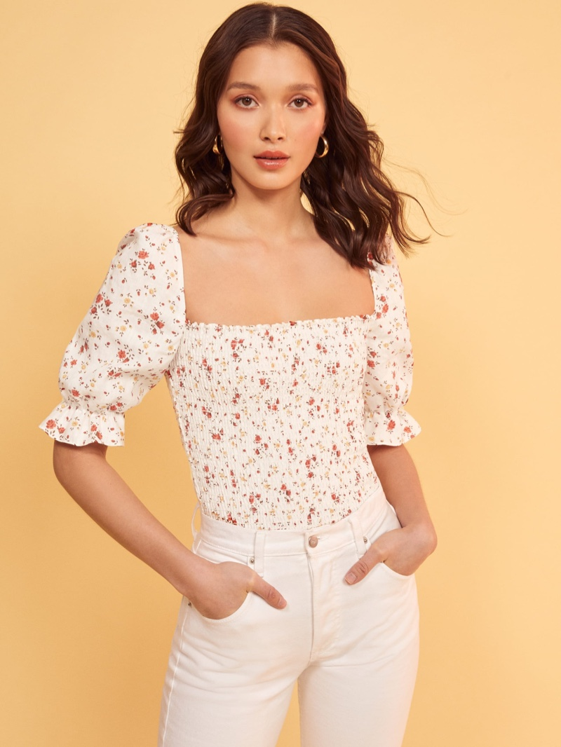 Reformation Clementine Top in Veronica $148