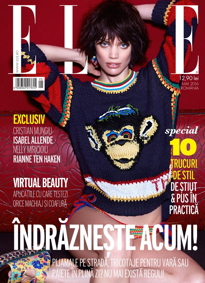 Rianne Ten Haken on ELLE Romania May 2016 Cover